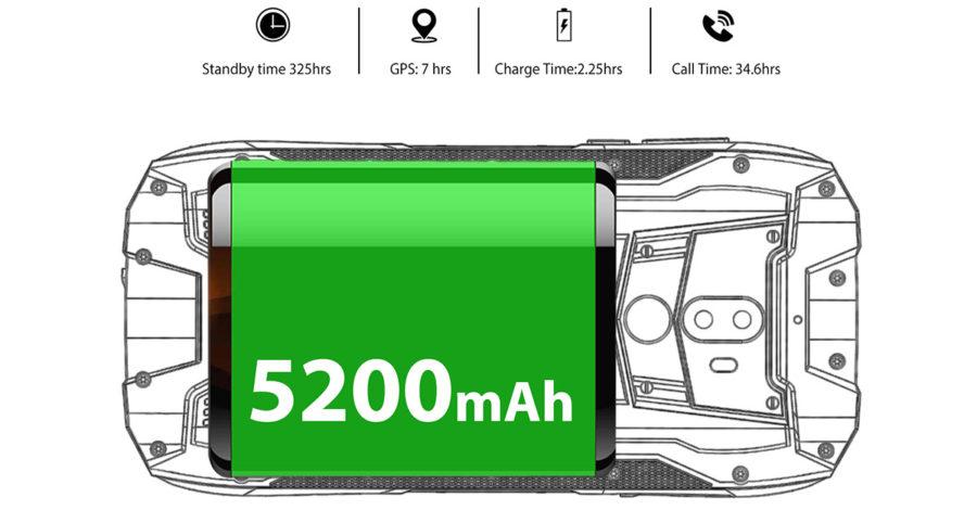 Oukitel WP5000 аккумулятор