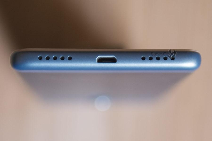Micro USB порт и один динамик Xiaomi Redmi 5