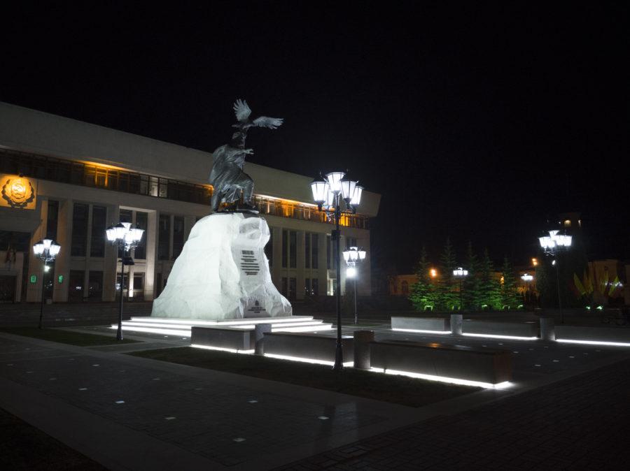 Обычное ночное фото, проявленное из RAW