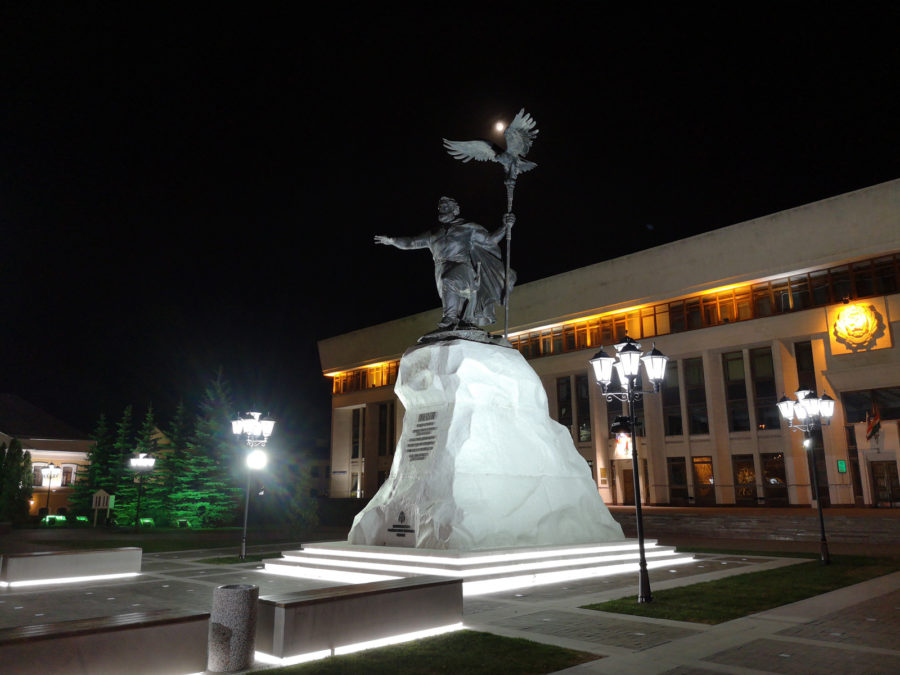 Обычное ночное фото, снятое на камеру Huawei P20