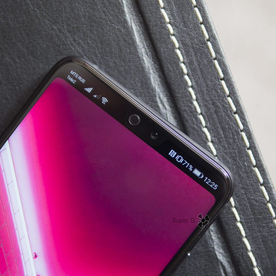 Закрашенная полоса на дисплее Huawei P20
