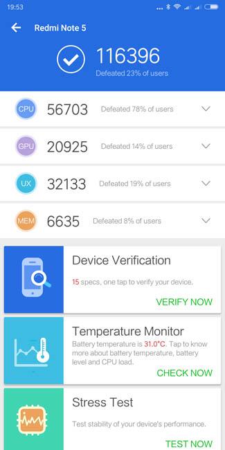 Тест производительности Xiaomi Redmi Note 5 Pro в AnTuTu