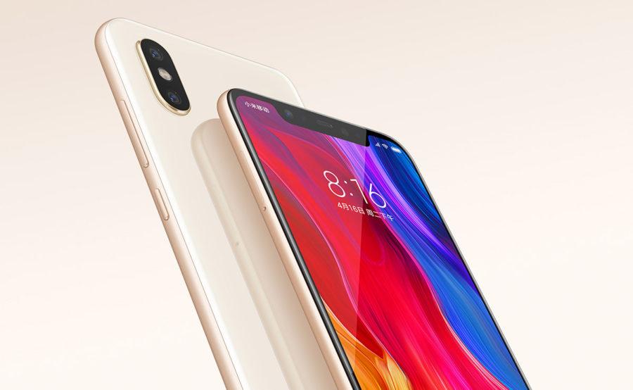 Xiaomi Mi8 золотая модель