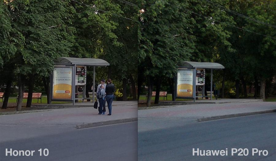 Сравнение камер Honor 10 и Huawei P20 Pro