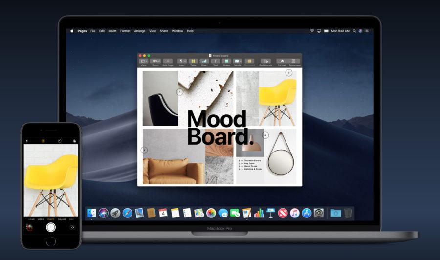 Непрерывная камера iPhone and Mac
