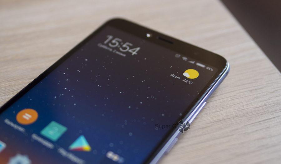 Плоское защитное стекло в Xiaomi Redmi S2