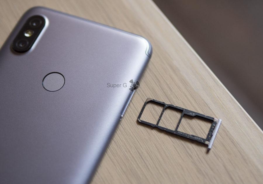 Независимые лотки под SIM-карты и Micro SD в Xiaomi Redmi S2