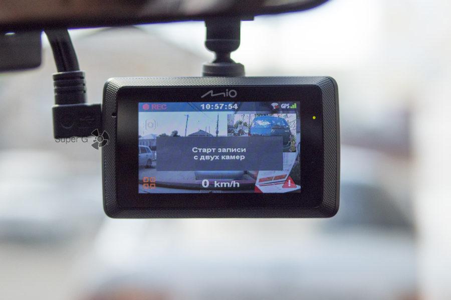 Запись на заднюю камеру через видеорегистратор Mio MiVue 786