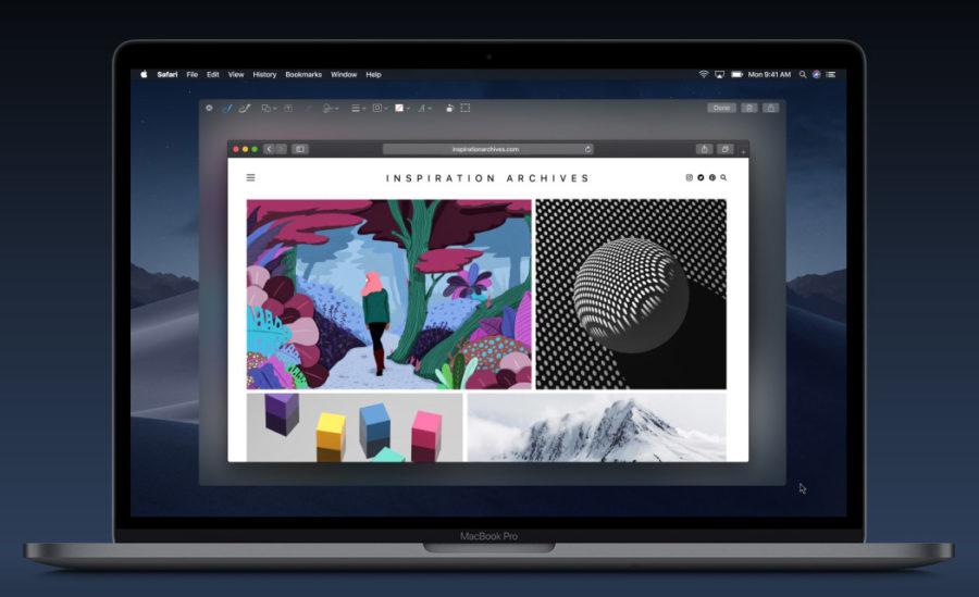 Создание и редактирование скриншотов в macOS Mojave