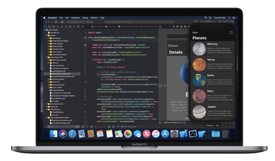Xcode в macOS Mojave