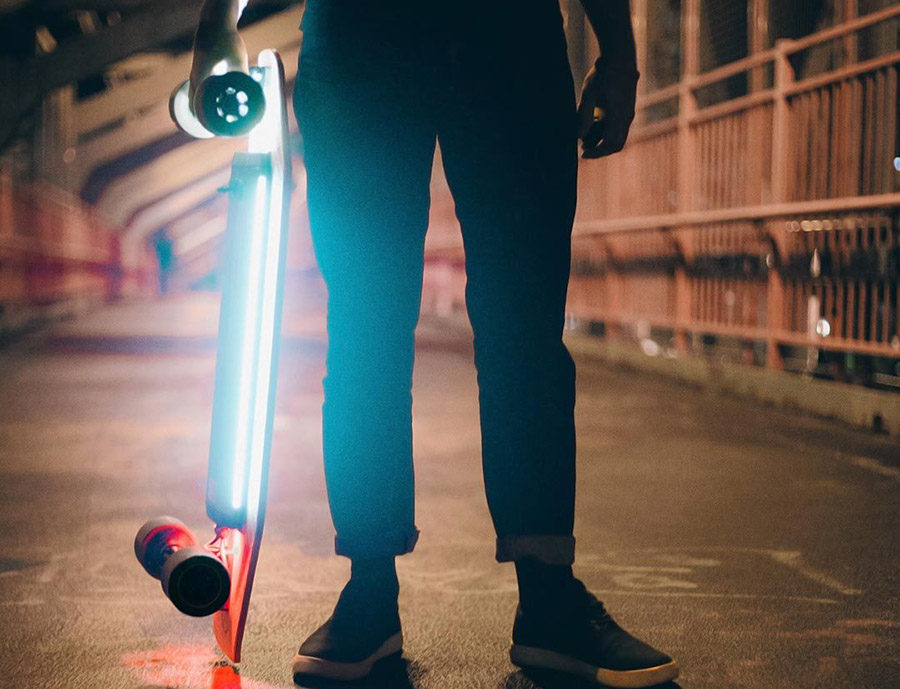Xiaomi ACTON Smart Electric Skateboard LED-подсветка