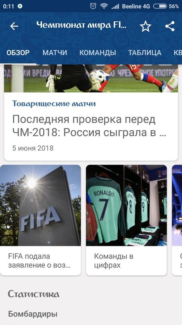 Чемпионат мира по футболу FIFA 2018 в России: новости