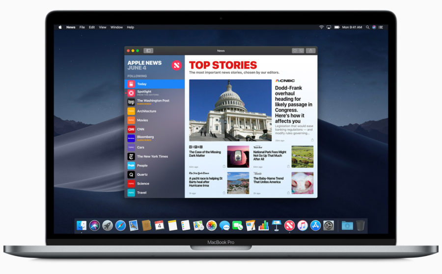 Приложение Новости для macOS Mojave