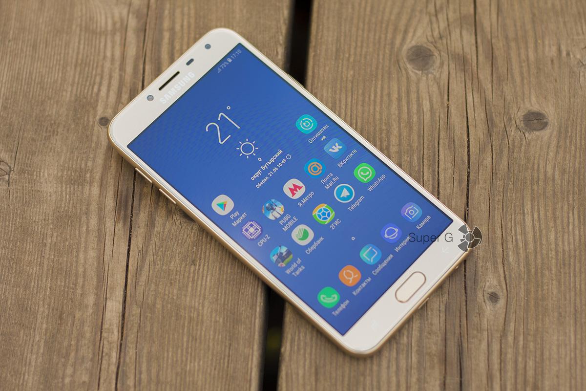 "Samsung Galaxy j4 (2018) режим ""на улице"""