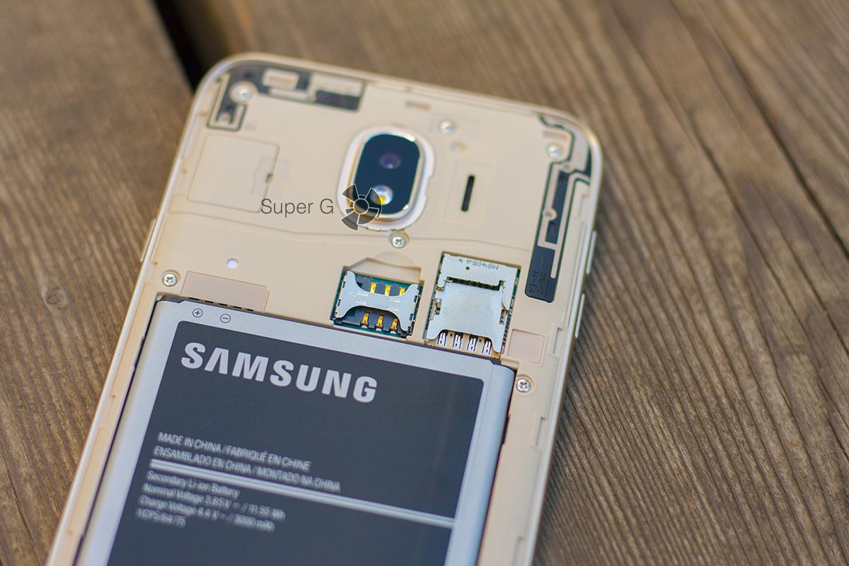 Samsung Galaxy j4 (2018) лоток SIM
