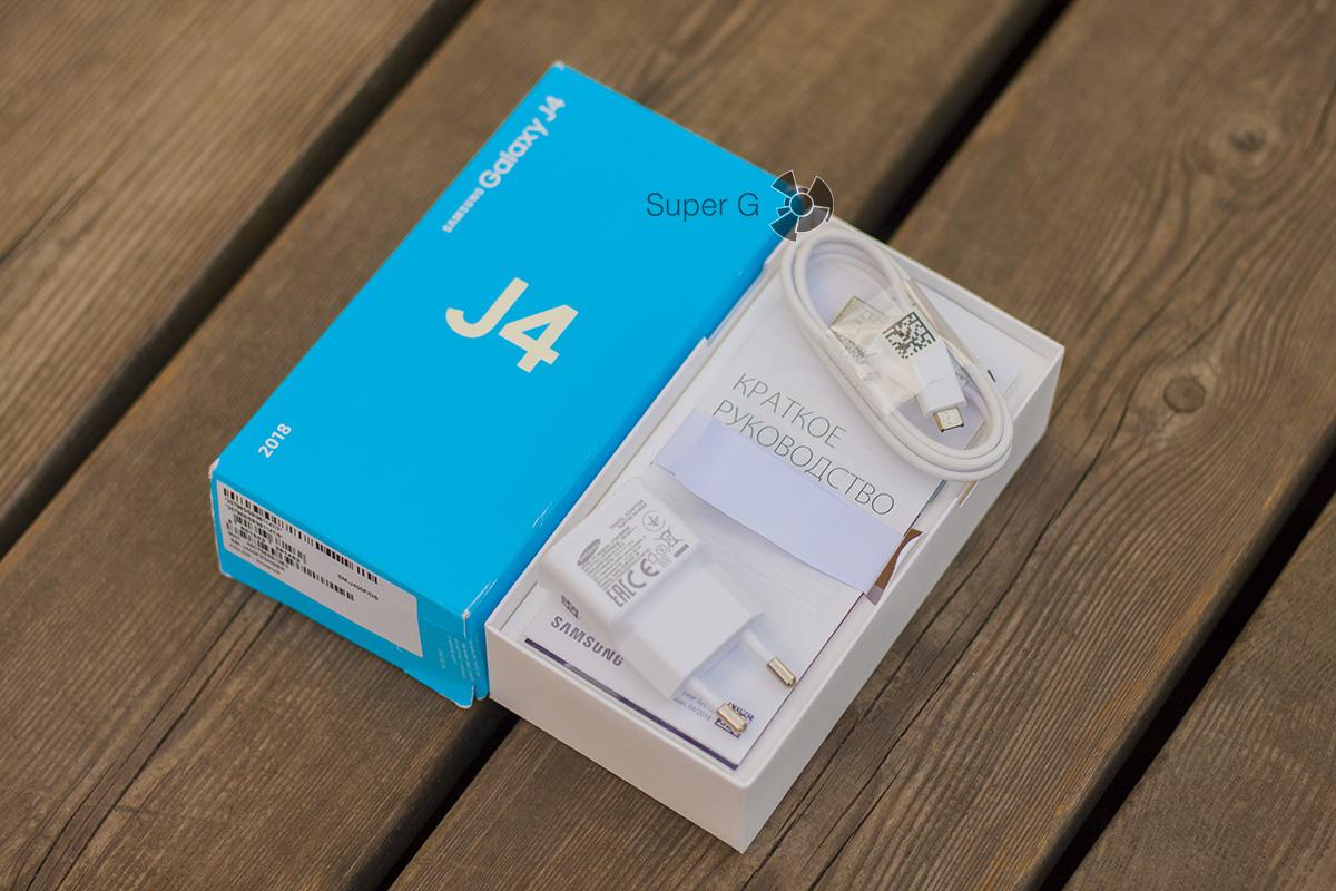 коробка Samsung Galaxy j4 (2018)