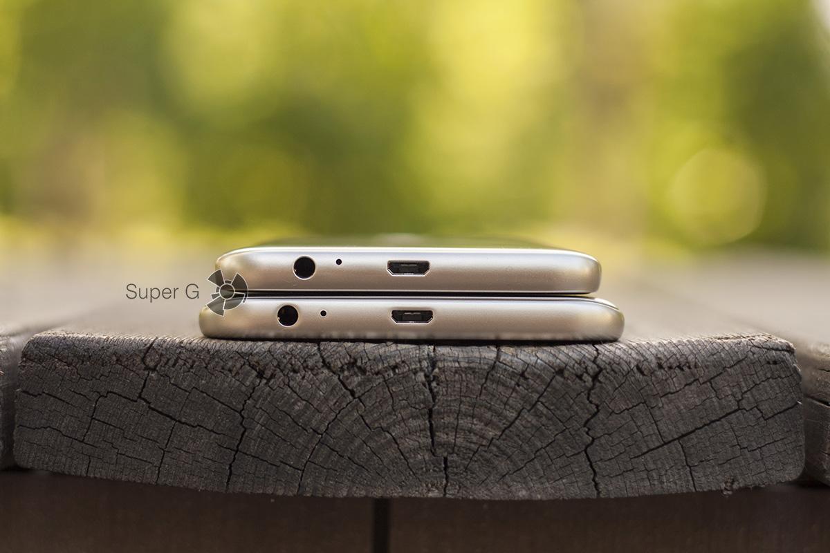 Samsung Galaxy j4 и Smasung Galaxy J6 снизу