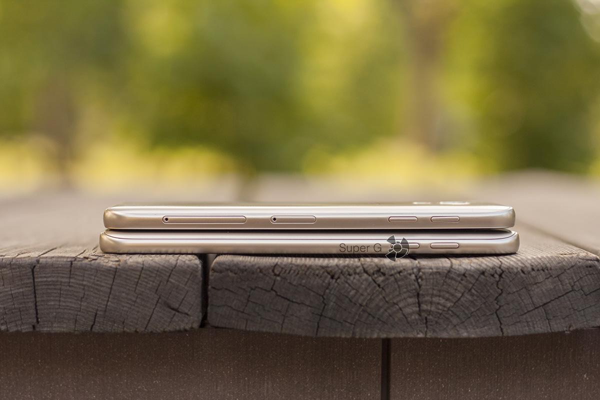 Samsung Galaxy j4 и Smasung Galaxy J6 сбоку