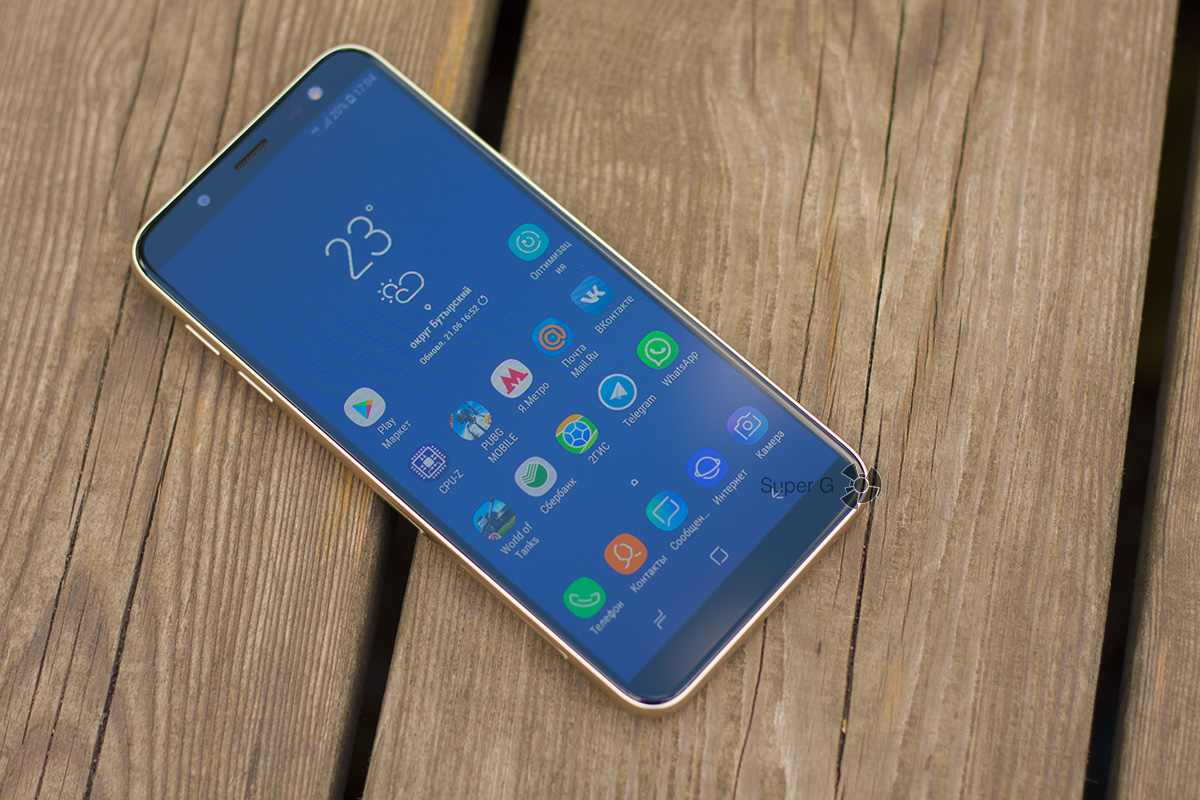 "Samsung Galaxy j6 (2018) режим ""на улице"""