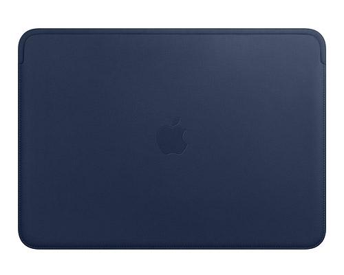 Синий кожаный чехол для macbook pro 2018
