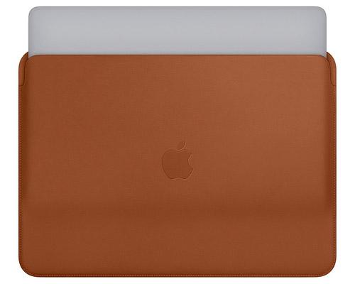Коричневый кожаный чехол для macbook pro 2018