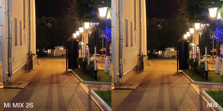 Сравнение камер Xiaomi Mi8 и Xiaomi Mi MIX 2S ночью