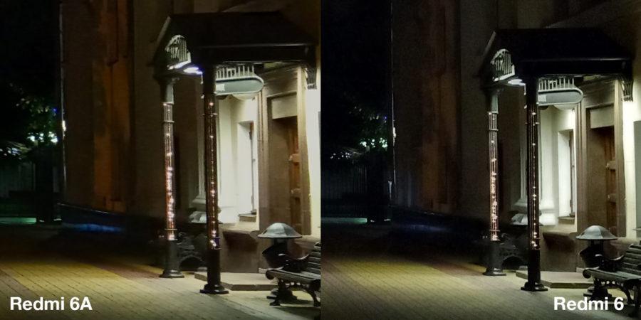 Сравнение Xiaomi Redmi 6A и Xiaomi Redmi 6 (ночная съёмка)