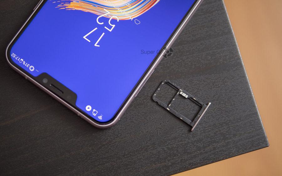 Лоток под SIM-карты и карту памяти в Asus Zenfone 5 ZE620KL комбинированный