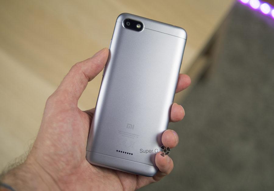 Xiaomi Redmi 6A не имеет сканера отпечатков пальцев