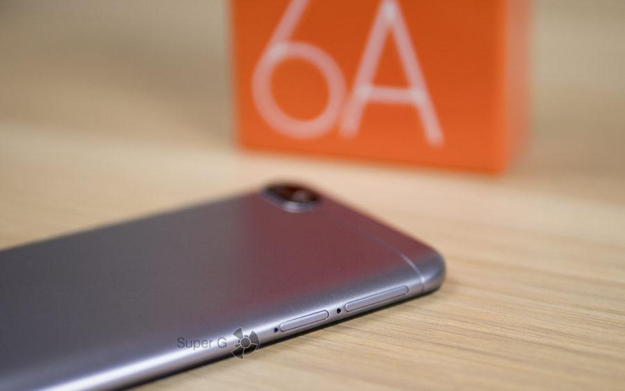 Двойной слот под карточку памяти и симки в Xiaomi Redmi 6A