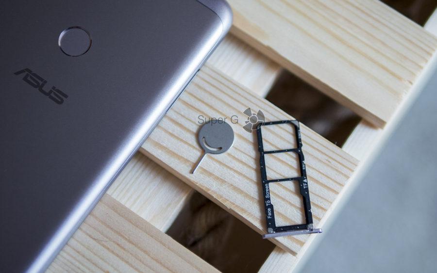 Лоток под SIM-карты и Micro SD у Asus Zenfone Max Pro (M1) независимый