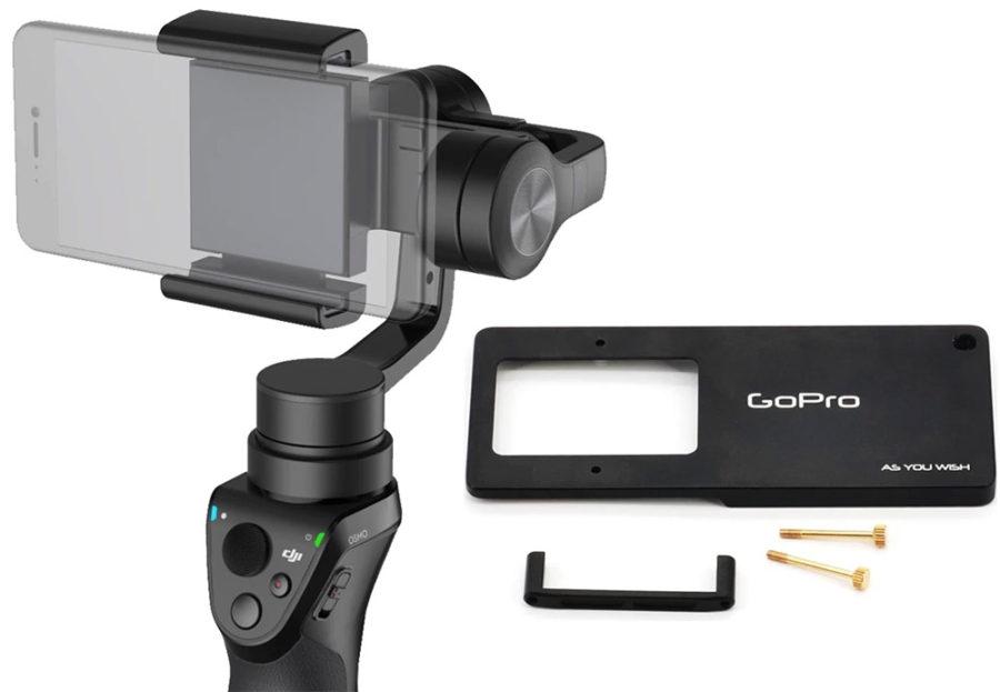 DJI Osmo Mobile 2 аксессуары - крэдл для GoPro