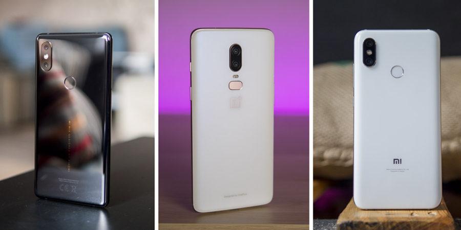 Сравнение Xiaomi Mi MIX 2S с OnePlus 6 и Xiaomi Mi8
