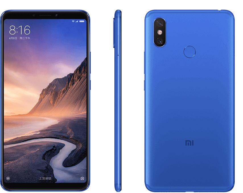 Синий Xiaomi Mi Max 3