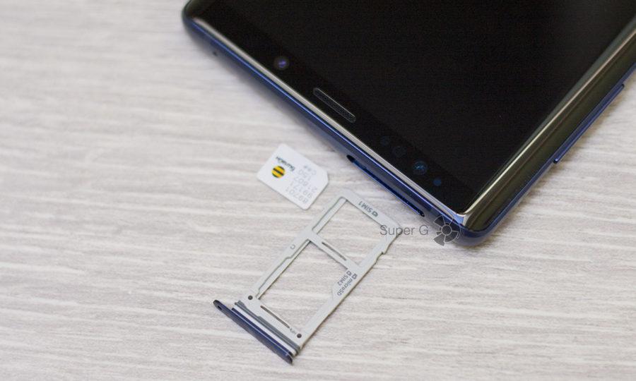 Лоток для SIM-карт и карты памяти Micro SD в Samsung Galaxy Note 9