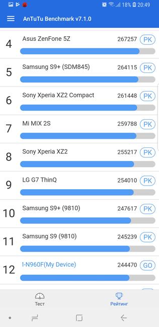 Samsung Galaxy Note 9 Antutu 2