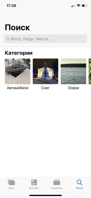 В iOS 12 появилась возможность искать фото не только по людям, локации, но и по контексту - можно вводить любое свойство