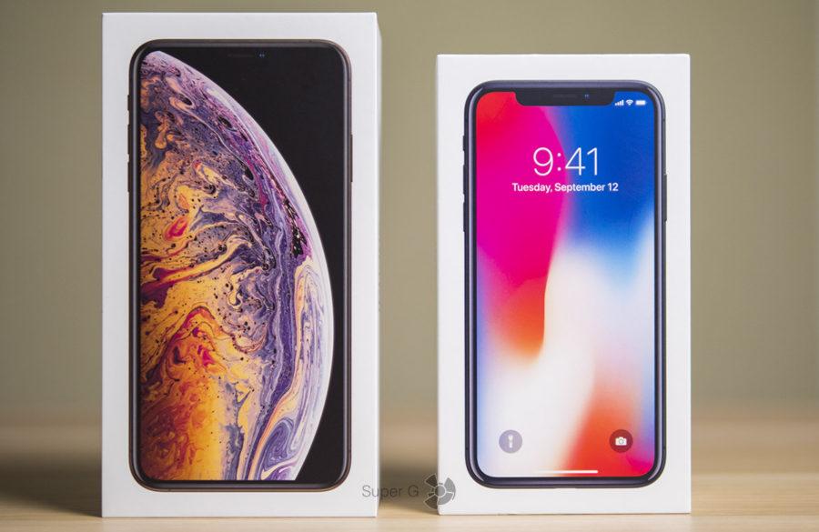 Коробка из-под iPhone XS Max 512 ГБ и iPhone X 256 ГБ