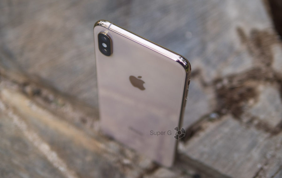 Стальной корпус iPhone XS Max Gold