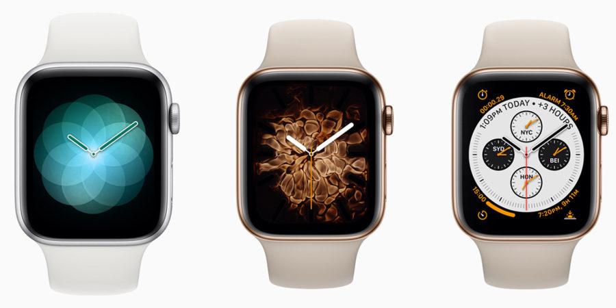 Интерфейс Apple Watch Series 4