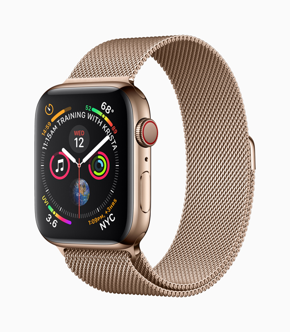 Золотые Apple Watch Series 4