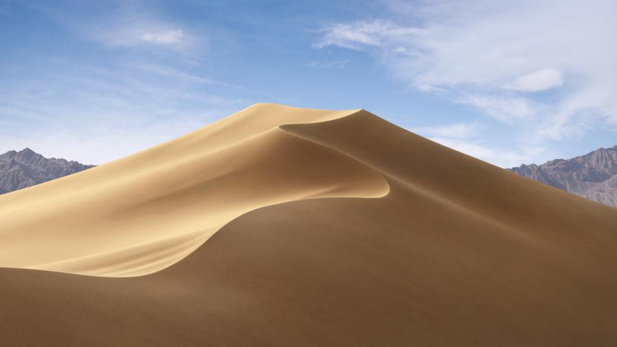 Динамические обои в macOS Mojave - день