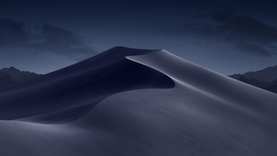 Динамические обои в macOS Mojave - ночь