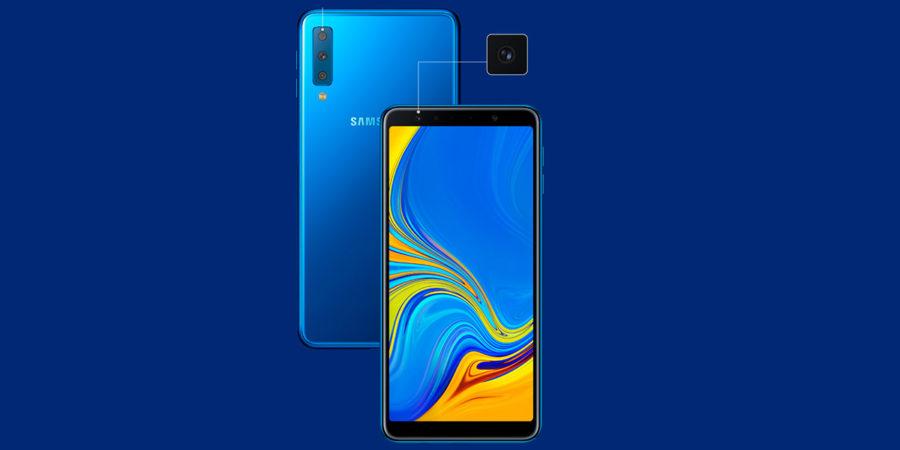 Дизайн Samsung Galaxy A7 (2018)