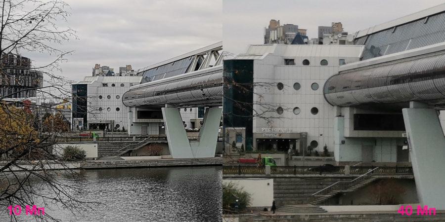 Сравнение детализации двух снимков с Huawei Mate 20 Pro - 10 и 40 Мп