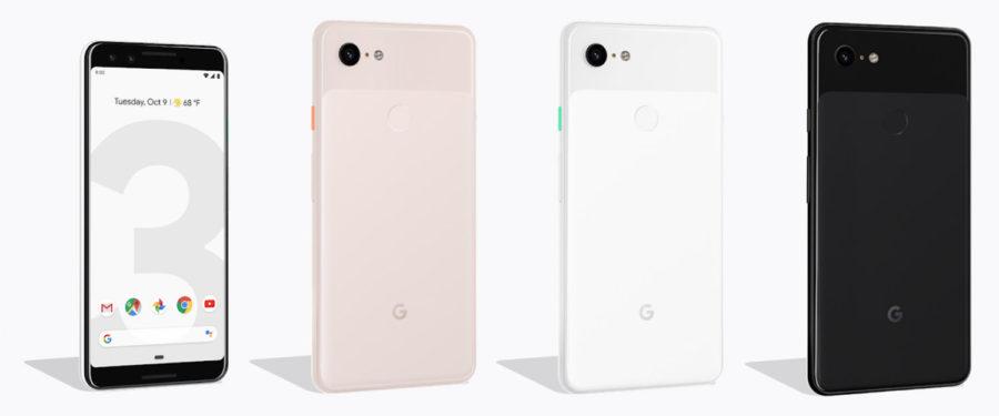 Цвета Google Pixel 3 и 3 XL