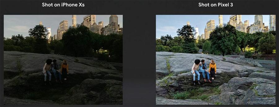 Сравнение камер iPhone Xs и Google Pixel 3