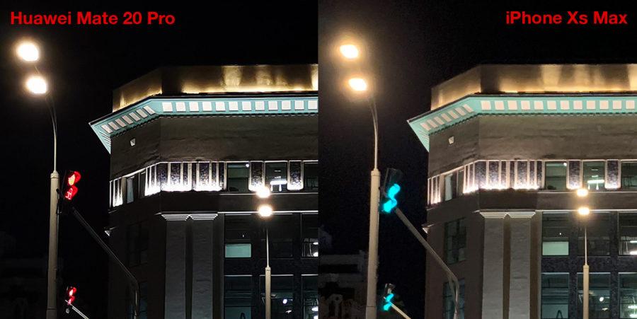 Сравнение камеры Huawei Mate 20 и iPhone Xs Max - ночь (2)