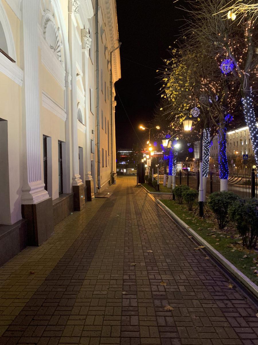 Пример ночного фото с камеры iPhone Xr