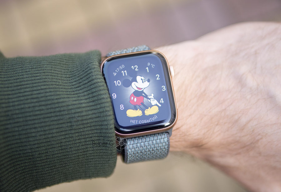 Циферблат с Микки Маусом на Apple Watch Series 4